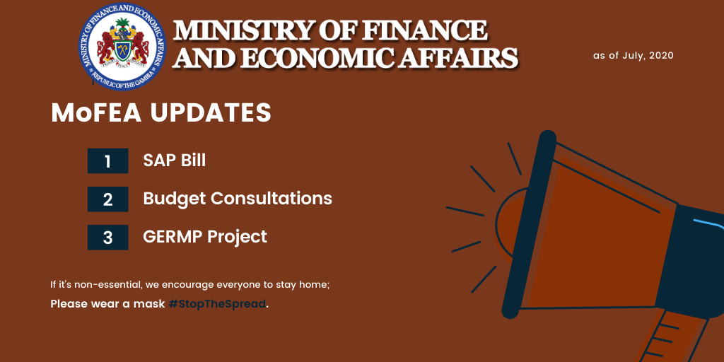 Updates From The Ministry of Finance & Economic Affairs